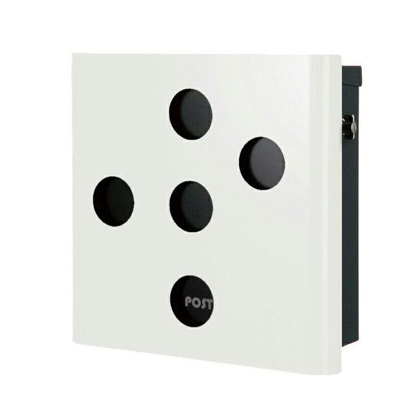 オンリーワン 壁付け郵便ポスト ヴァリオ ネオ イレギュラー 壁掛けタイプ(鍵無し) ホワイト NA1-ON03WH