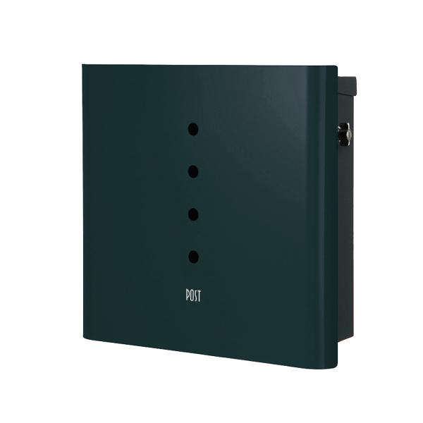 オンリーワン 壁付け郵便ポスト ヴァリオ ネオ アルファ 壁掛けタイプ(T型カムロック付) フォレストグリーン NA1-OT01FG