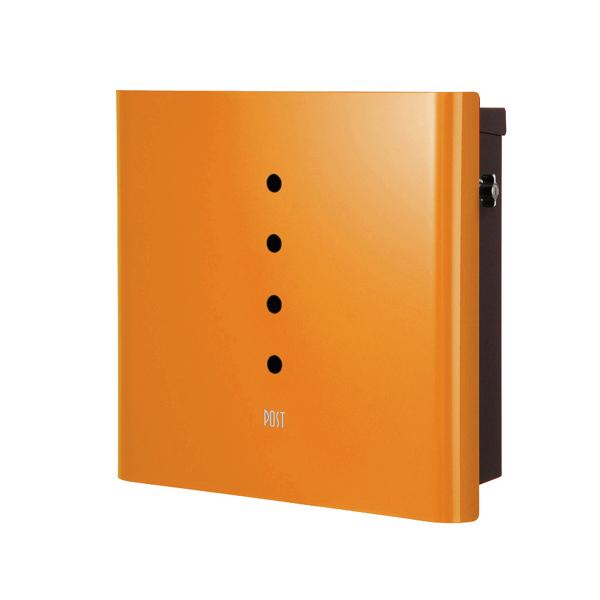 オンリーワン 壁付け郵便ポスト ヴァリオ ネオ アルファ 壁掛けタイプ(T型カムロック付) オレンジ NA1-OT01OR