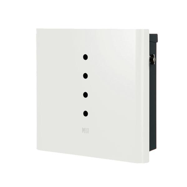 オンリーワン 壁付け郵便ポスト ヴァリオ ネオ アルファ 壁掛けタイプ(T型カムロック付) ホワイト NA1-OT01WH