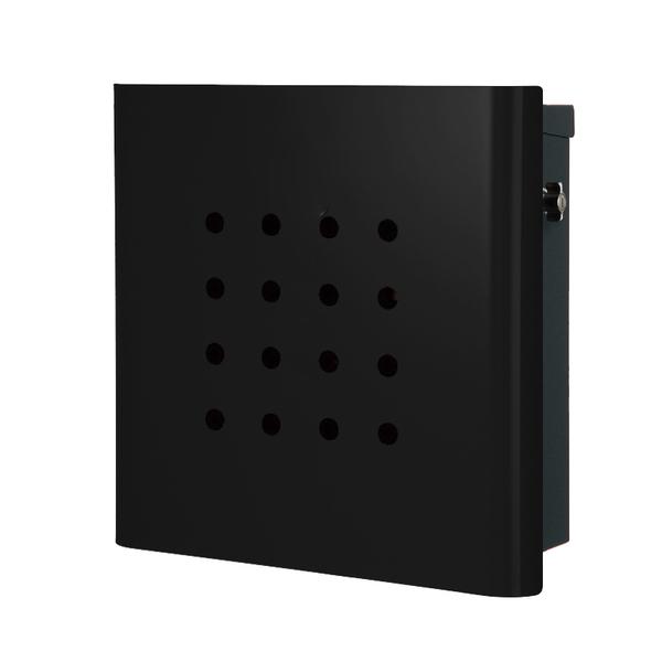 オンリーワン 壁付け郵便ポスト ヴァリオ ネオ パンチ 壁掛けタイプ(T型カムロック付) グロスブラック NA1-OT02GB