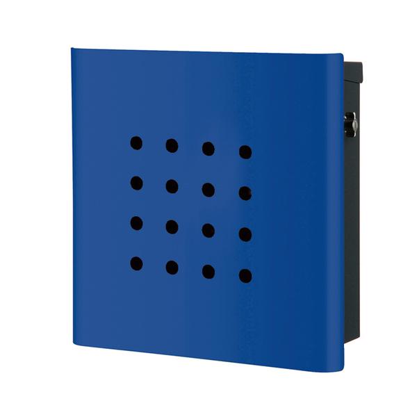 オンリーワン 壁付け郵便ポスト ヴァリオ ネオ パンチ 壁掛けタイプ(T型カムロック付) ロイヤルブルー NA1-OT02YB