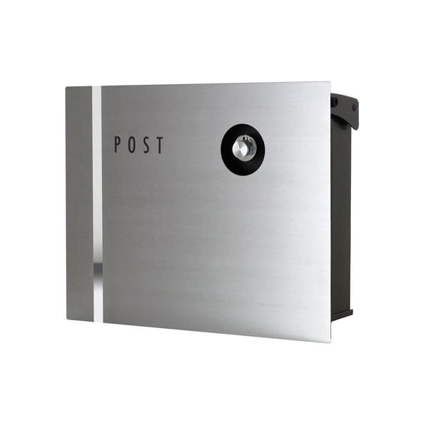 オンリーワン 壁付け郵便ポスト パーサス ネオ ステンレス Type09 壁掛けタイプ(ダイヤル錠付) NA1-PA09SZ