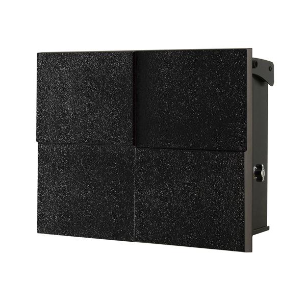 オンリーワン 壁付け郵便ポスト パーサス ネオ DECO Type07 壁掛けタイプ(T型カムロック付) フロストブラック NA1-PT07FK