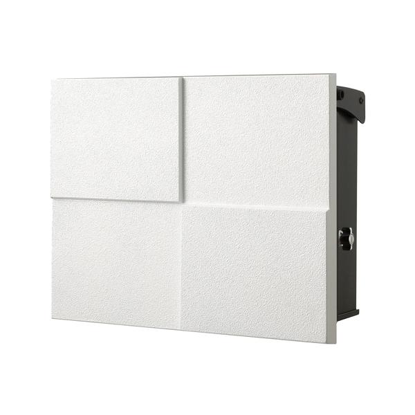 オンリーワン 壁付け郵便ポスト パーサス ネオ DECO Type07 壁掛けタイプ(T型カムロック付) フロストホワイト NA1-PT07FW