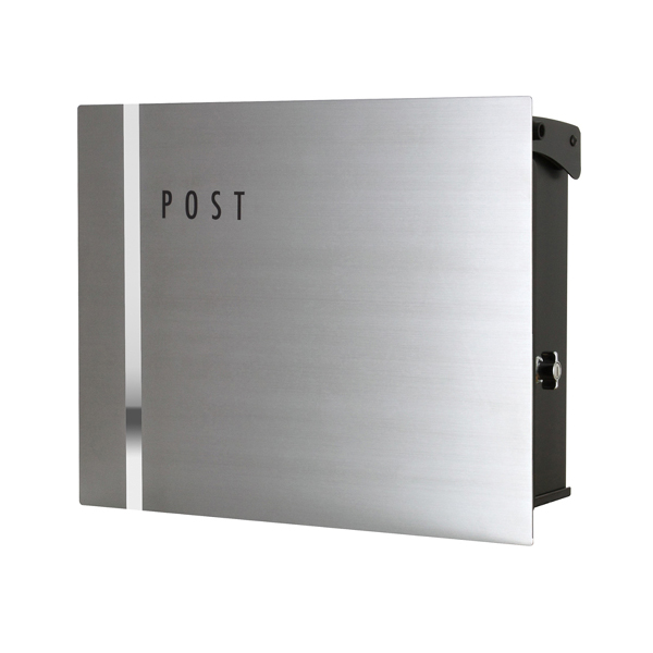 オンリーワン 壁付け郵便ポスト パーサス ネオ ステンレス Type09 壁掛けタイプ(T型カムロック付) NA1-PT09SZ