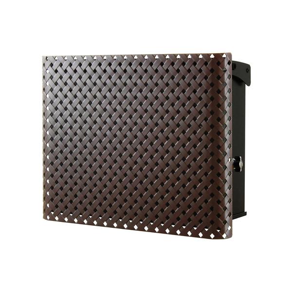 オンリーワン 壁付け郵便ポスト パーサス ネオ レーテ Type13 壁掛けタイプ(T型カムロック付) ダークブラウンマット NA1-PT13DM