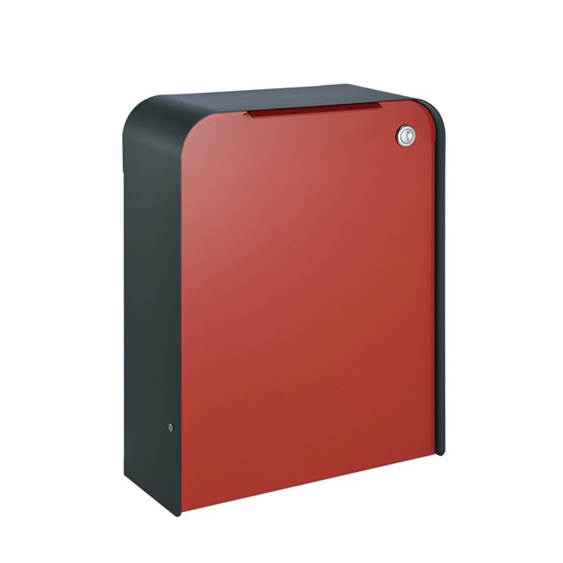 オンリーワン 郵便ポスト  ゼラフィーニ メールボックス ステップ 外枠:ブラック ボックス:レッド  SG1-250RD 送料無料