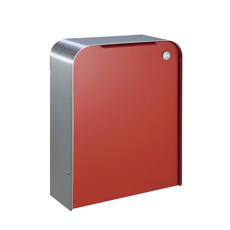 オンリーワン 郵便ポスト  ゼラフィーニ メールボックス スタップ 外枠:ステンレス ボックス:レッド SG1-260RD 送料無料