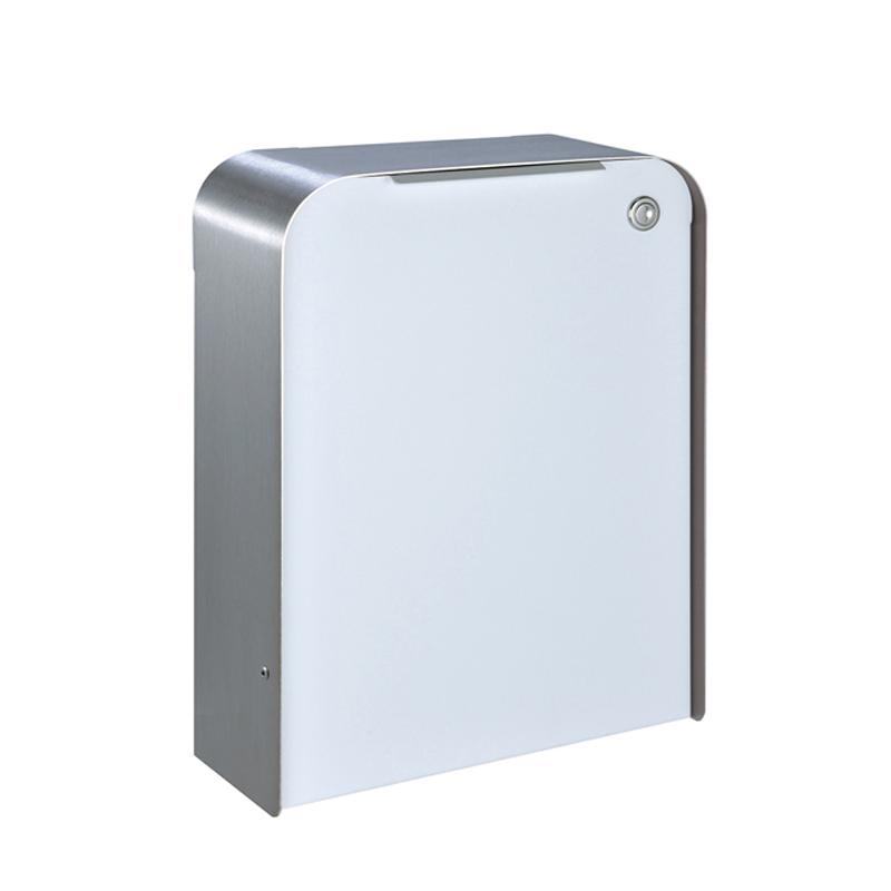 オンリーワン 郵便ポスト  ゼラフィーニ メールボックス スタップ 外枠:ステンレス ボックス:ホワイト  SG1-260WH 送料無料