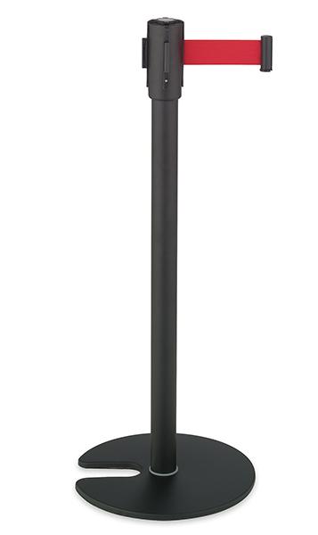 テラモト ベルトパーテーションスタンドD スチール ベルト赤 SU6605102 ※個人宅配送不可