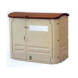 リッチェル ゴミステーション 大型ゴミ箱 ゴミ容器 ワイドストレージ WS600(キャスターなし)[業務用/工場/マンション/アパート/カラス/対策/猫/大容量/ごみ/ゴミ箱/ゴミストッカー]