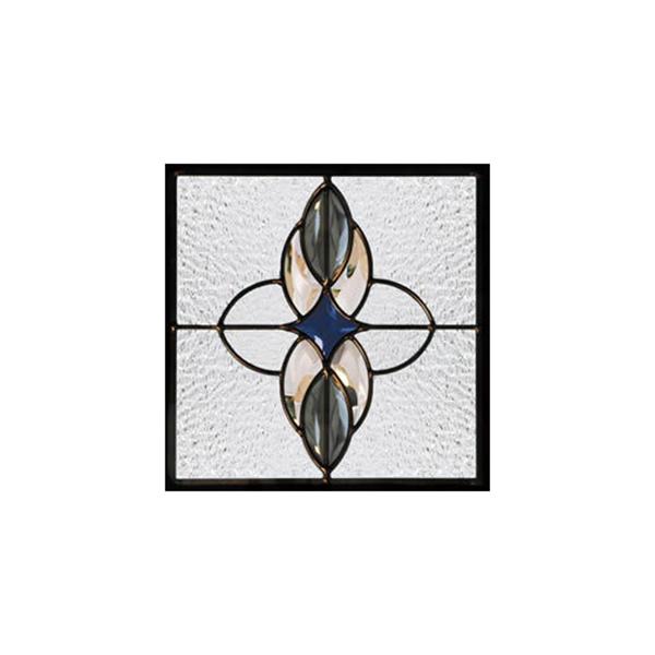 【送料無料】遮音・断熱・防犯性のステンドグラス 遮音・断熱・防犯性のステンドグラス ピュアグラス Dサイズ 200mmスクエア SH-D04 [ステンドグラス/ガラス/インテリア/窓/小窓/室内/屋内]