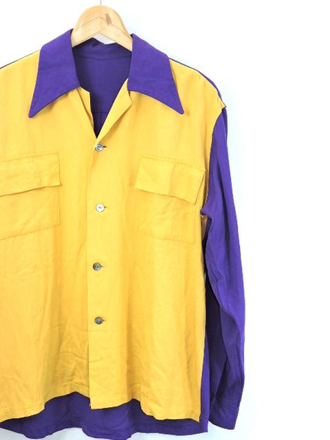 【中古】50's~ Unknown レーヨン L/Sシャツ VINTAGE 50年代