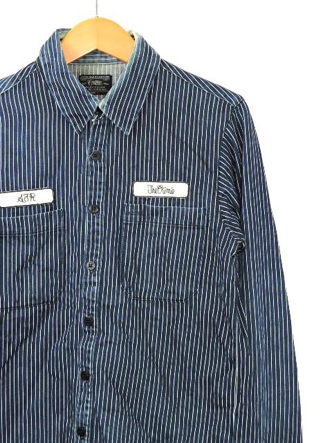【中古】CRIMIE クライミー 長袖 デニムシャツ ワッペン ワークシャツ Sサイズ