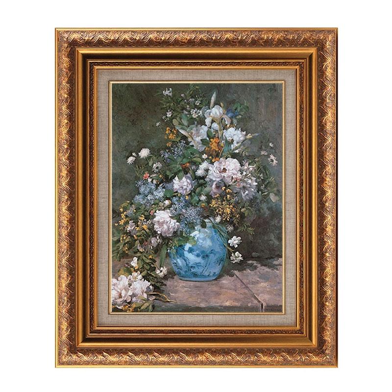 春の花束 6号 ピエール=オーギュスト ルノワール 複製画 大人気 アート 絵画 インテリア 額入り 毎週更新 選べる4種類