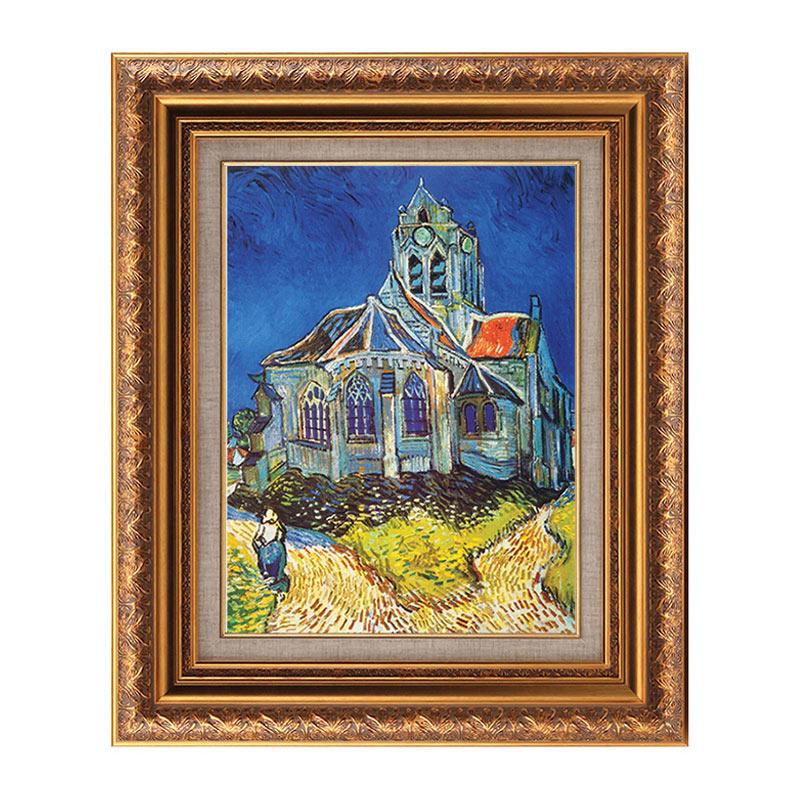 オーヴェルの教会 6号 ヴィンセント 人気急上昇 正規逆輸入品 ヴァン ゴッホ 複製画 選べる4種類 額入り インテリア アート 絵画