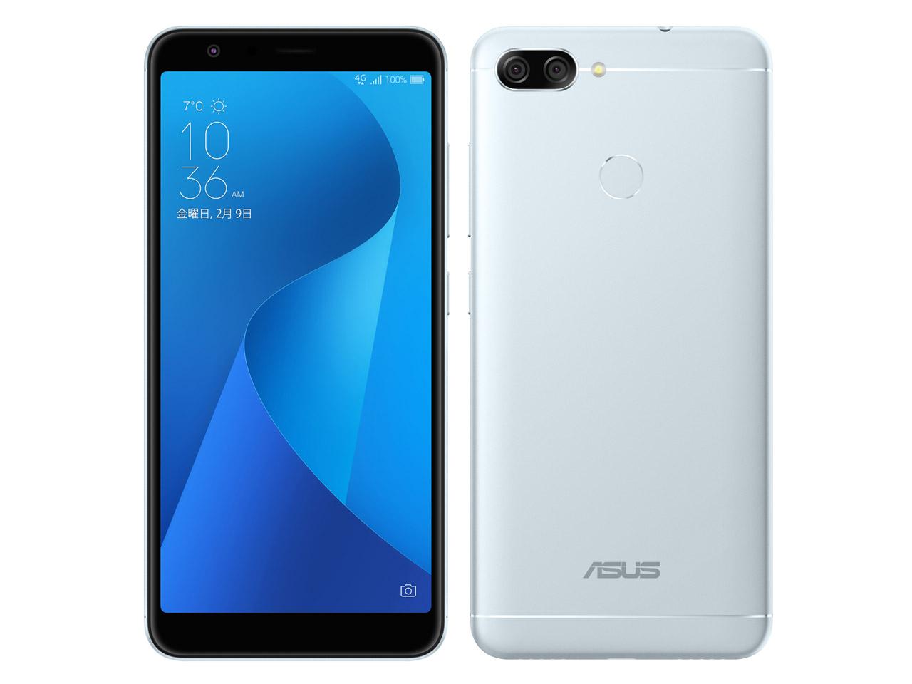 中古 ASUS Zenfone Max Plus M1 Dual-SIM ZB570TL 32GB アズールシルバー【国内版】 SIMフリー スマホ 本体 送料無料【当社3ヶ月間保証】【中古】 【 携帯少年 】