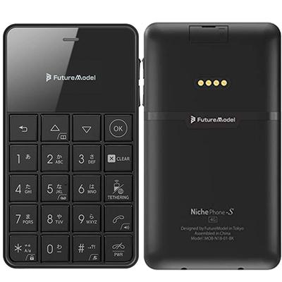 中古 NichePhone-S 4G MOB-N18-01-BK【ブラック】 SIMフリー ガラケー 本体 送料無料【当社3ヶ月間保証】【中古】 【 携帯少年 】