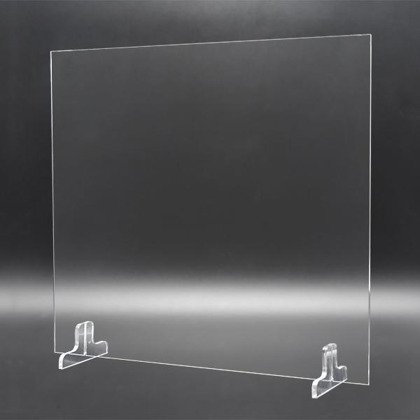 透明アクリルパーテーションコンパクト汎用M[600タイプ-100台セット]
