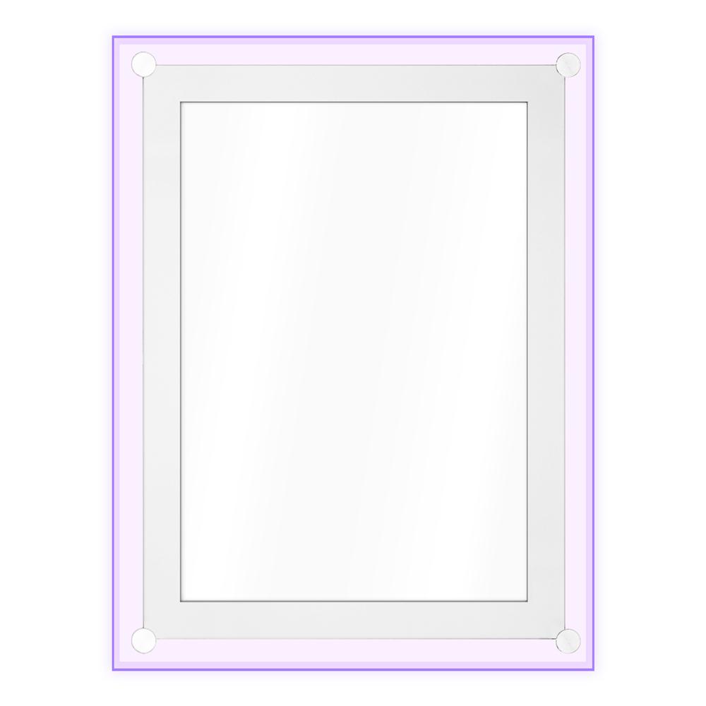 レインボーLEDパネル アクリルフレームレスA1サイズ、ライトパネル