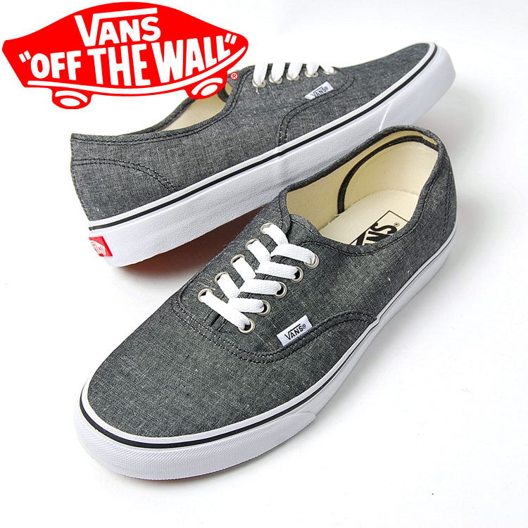 3be4fb8382e9 honey  VANS AUTHENTIC CLASSIC CHAMBRAY PACK vans authentic BLACK ...