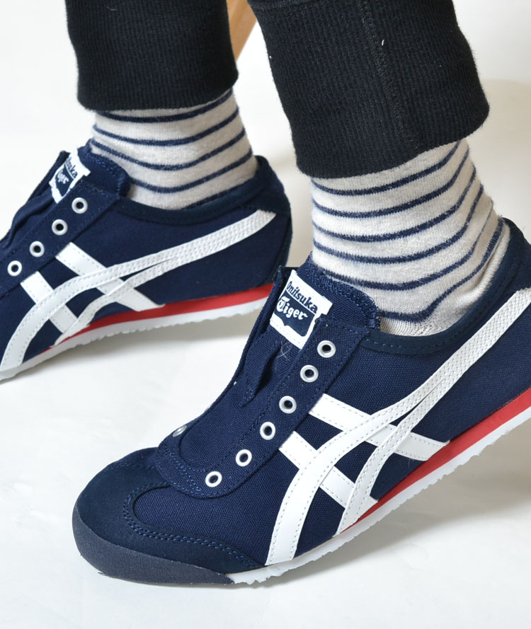 new styles 7e578 9fd0f Onitsuka Tiger MEXICO 66 SLIP-ON Onitsuka tiger Mexico 66 slip-ons navy  Lady's sneakers