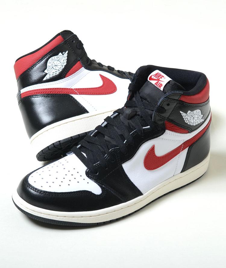 NIKE Air Jordan 1 Retro High OG ナイキ エアージョーダン 1 レトロ ハイ OG ブラック×ホワイト×レッド メンズ スニーカー 555088-061