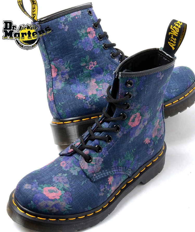 doc marten floral boots