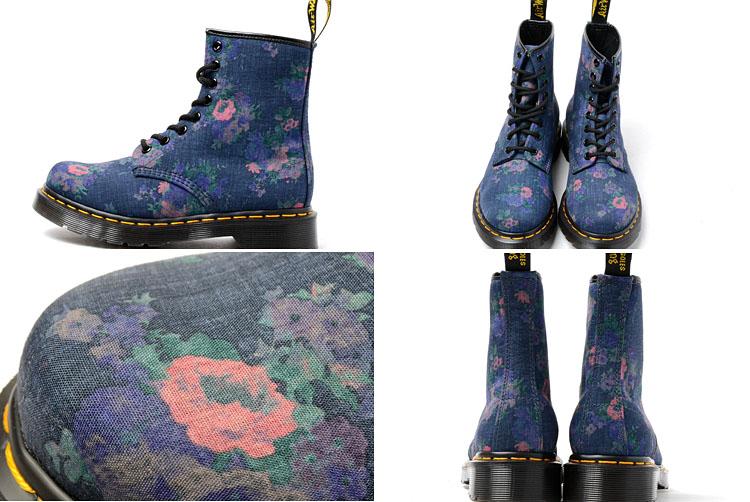 223d0b75724 ... Dr.Martens CASTEL 8HOLE BOOT DENIM Dr. Martens Castel 8 hole boots  denim floral ...