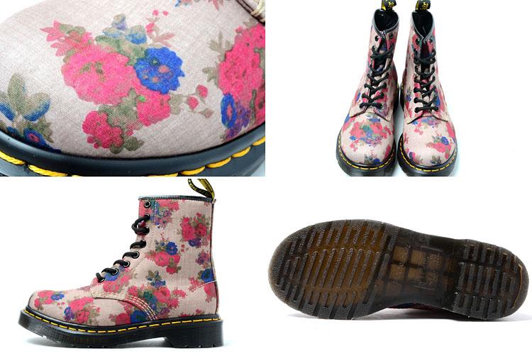 c74de465008 ... Dr.Martens CASTEL 8HOLE BOOT BEIGE Martens Castel 8 hole boots beige  floral ...