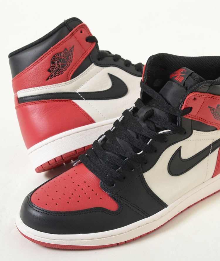 premium selection 23329 6c891 NIKE AIR JORDAN 1 RETRO HIGH OG Nike Air Jordan one-length fatty tuna high  OG red X black X white men sneakers 555,088-610