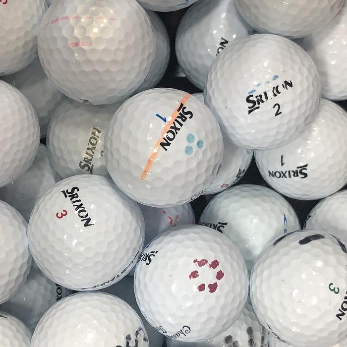 期間限定お試し価格 ロストボール スリクソン 大量 練習 初心者 お買い得 店内全品対象 送料無料 中古 ホワイト系 50球 ゴルフボール SRIXON 各種混合 Bランク