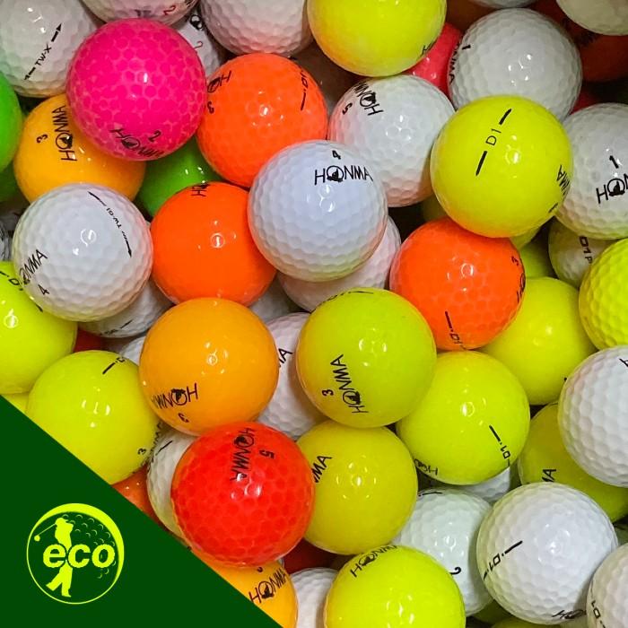 アイテム勢ぞろい 人気のHONMAを格安で 送料無料 ロストボール ホンマ HONMA ゴルフボール 色々 ●日本正規品● 100球 中古 Bランク