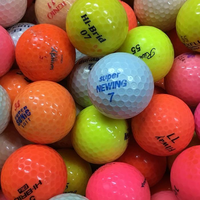 激安通販ショッピング 迅速な対応で商品をお届け致します ロストボール 練習 初心者 お買い得 送料無料 カラーボール 中古 ゴルフボール Bランク 50球 色々
