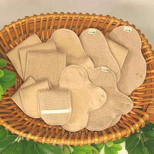 【和っ布る 布ナプキン】 スターターセット福袋・・・茶色 ■全国送料無料■