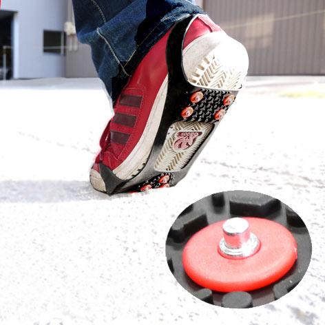 靴に取り付ける着脱式アイス スパイク 豪華な 定番から日本未入荷 取り付け簡単 着脱式 雪道 アイス や路面の凍結した道の歩行時に安心 安全の滑り止め スノーシューズ お手持ちの靴につけるだけ