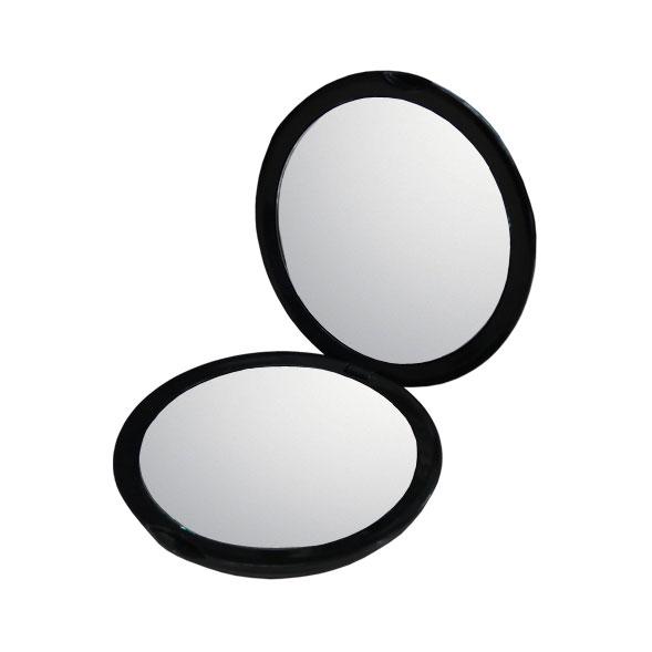 10倍鏡 通常の鏡の10倍の大きさで映る手鏡!細かなメイクや日々のスキンケアに最適!持ち運びに便利なコンパクトミラーメイク 化粧 コンタクトレンズ シミ シワ スキンケア 拡大鏡 10倍拡大鏡 ネコポス