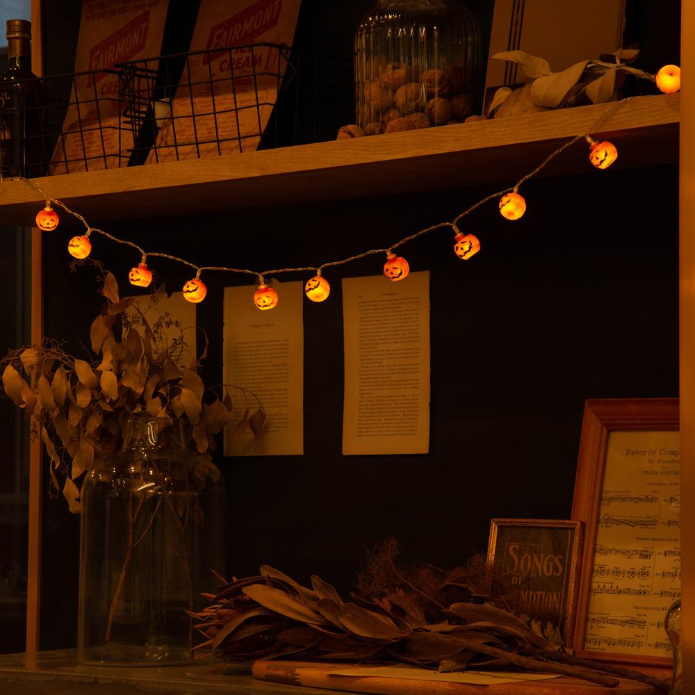 ハロウィン パーティ 電飾 かわいい おしゃれ イルミネーション ライト 電池式ハロウィンライト かぼちゃ パンプキン 装飾 送料0円 再再販 仮装 ジャックオーランタンハロウィーン パーティー ランプネコポス送料無料