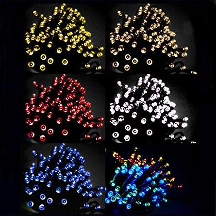 送料無料 ソーラー充電タイプ 自動ON OFF 防水LEDイルミネーションライト 超目玉 売り込み 12mケーブル 2種類の発光パターン防雨防水構造 完全防雨タイプLEDイルミネーションライト点灯点滅 ソーラー充電LEDイルミネーションライト宅配便送料無料 太陽光充電で暗くなったら自動点灯100灯
