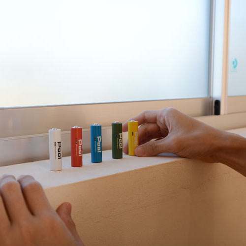 ニッケル水素電池 単4形 950mAhNi-MH 充電池 Pool プール 4本セット 電池用プラスチックケース×1個付属