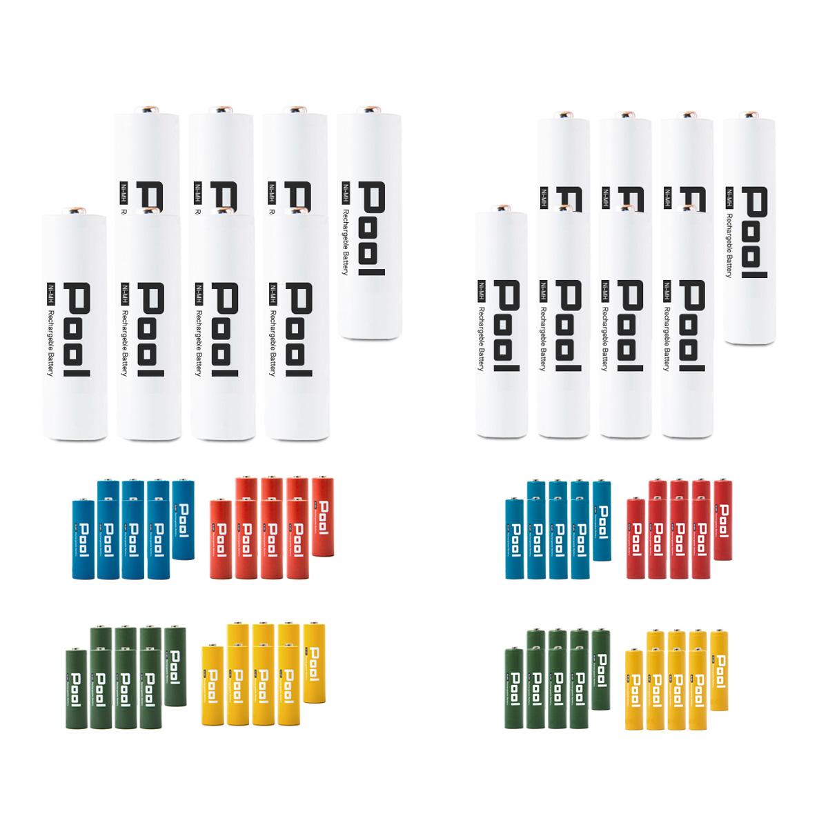 乾電池 から 充電池 へ 電池 単三 単四 ニッケル水素充電池 バッテリー 単3 単4 Pool と 激安格安割引情報満載 エネループ を超える大容量 形×8本 エネロング ×8本 ネコポス送料無料 低価格 プール 16本セット単3 ニッケル水素電池 形