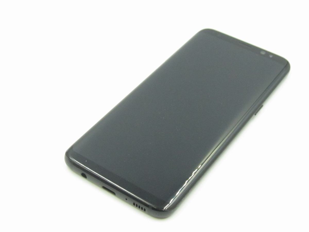 【美品 保証】docomo SC-02J Galaxy S8(SAMSUNG) ブラック 中古 スマホ 白ロム GALAXY ▲