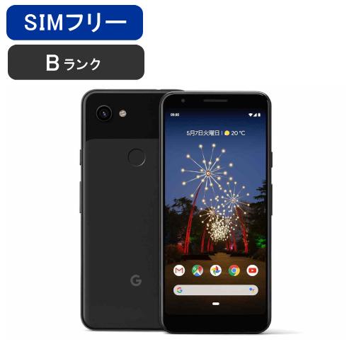 【土日も毎日発送】【美品 保証】SIMフリー Pixel 3a [Bランク/ブラック]softbank ロック解除済み [google] 激安 白ロム [中古 スマホ] 本体 グーグル ピクセル ソフトバンク