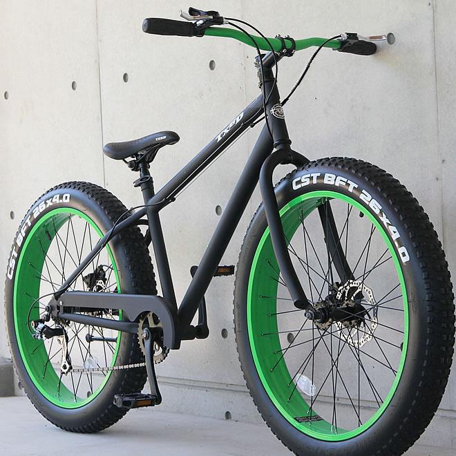 ファットバイク ビーチクルーザー 自転車 26インチ FATBIKE シマノ7段変速 ディスクブレーキ 自転車 通販【送料無料】但し沖縄・離島は除く