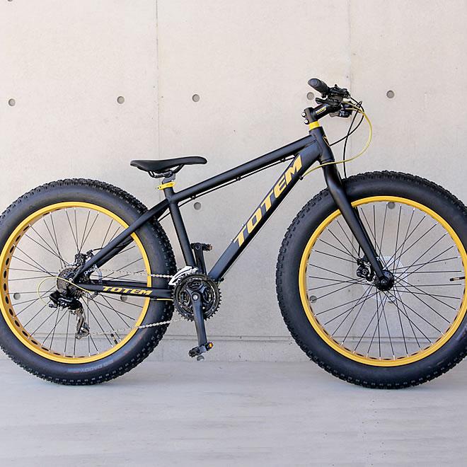 ファットバイク ビーチクルーザー 自転車 26インチ FATBIKE シマノ24段変速 ディスクブレーキ【送料無料】但し沖縄・離島は除く