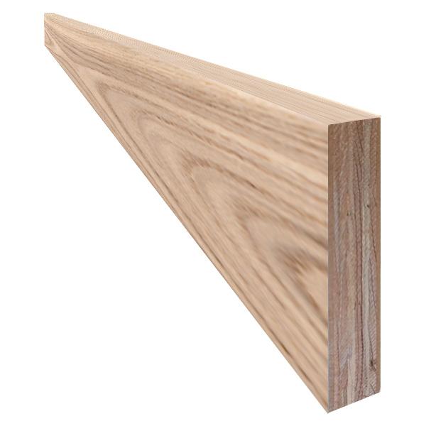 単板張り 付け框 玄関 幅木「アッシュ」無塗装 | プレミアムグレード | 天然木 タモ 巾木 DIY 木材 板