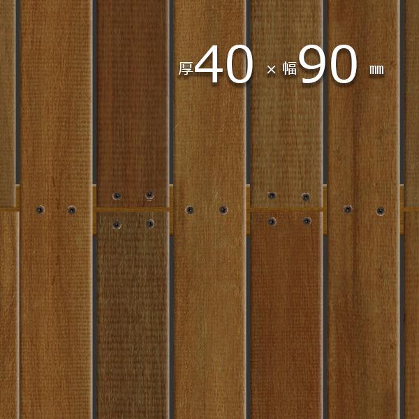 イペ ブラジリアン ウォルナット ウッドデッキ 長4200mm 信頼 無垢材 ハードウッド DIY 長4200mm-イペ ブラジリアンウォルナット デッキ材 迅速な対応で商品をお届け致します 床板 幕板 根太 40×90×4200mm 笠木
