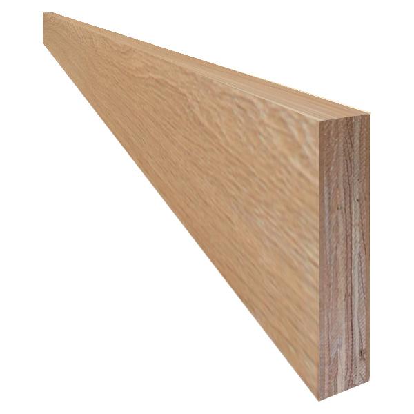 単板張り 付け框 玄関 幅木「オーク」オイル仕上げ(透明つや消し) | プレミアムグレード | 天然木 ナラ 楢 巾木 DIY 木材 板