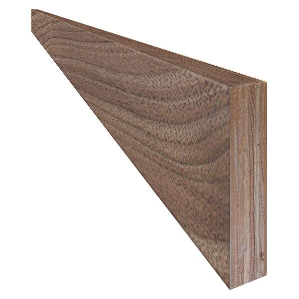 単板張り 付け框 玄関 幅木「ブラックウォルナット」無塗装   プレミアムグレード   天然木 クルミ 胡桃 巾木 DIY 木材 板